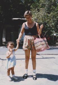 San Juan, Riley and Mom beach 001