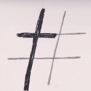 Hashtag cross 001